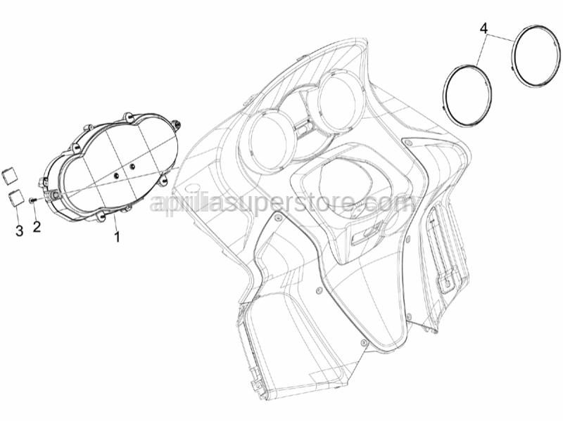 Aprilia - TBCIC Screw 3,8x16