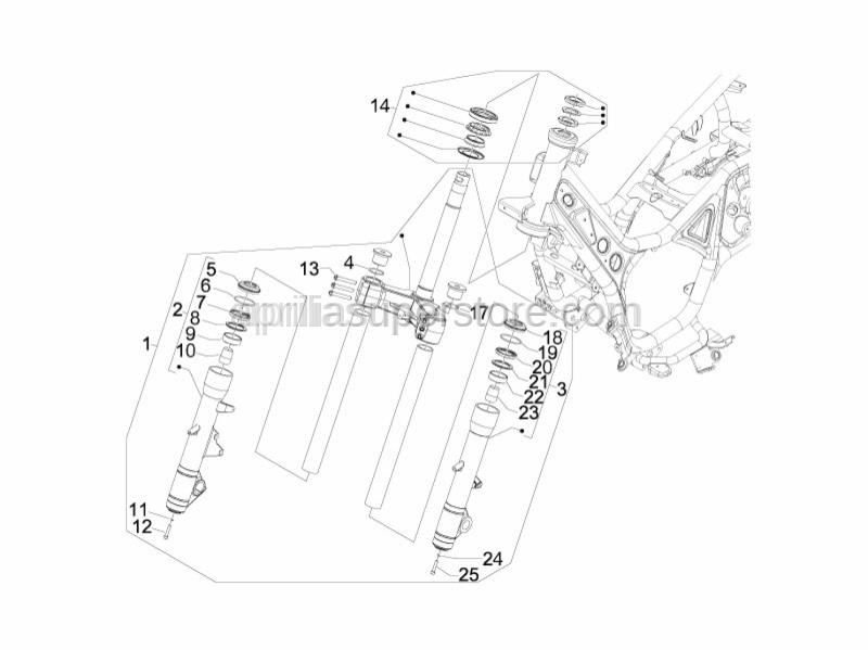Aprilia - screw (KAYABA)