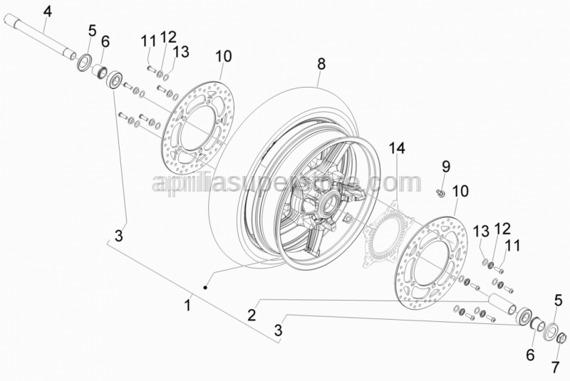 Aprilia - Radial bearing 25x52x15