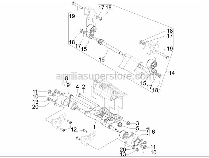 Aprilia - Flat washer 22x10,3x2,5