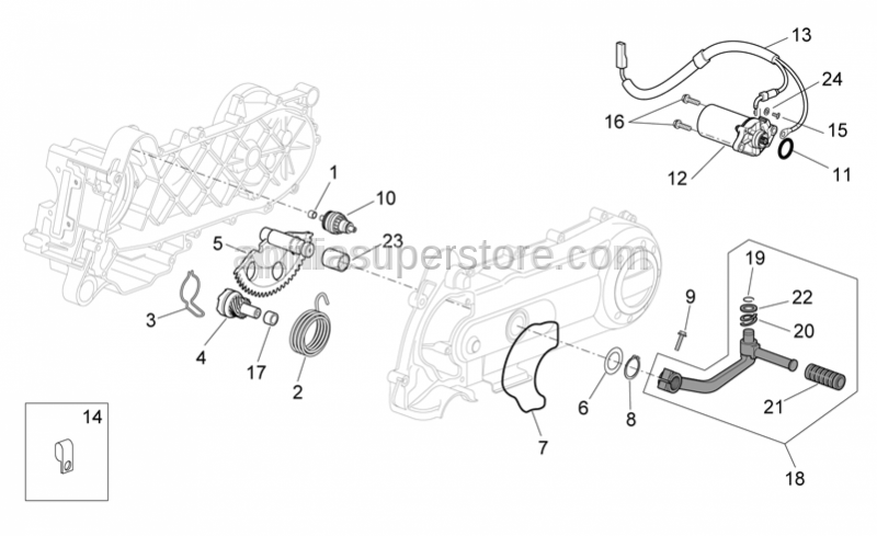 Aprilia - Starter lever return spring