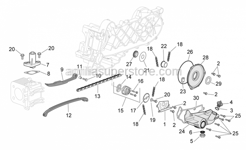 Aprilia - Chain tensioner rod