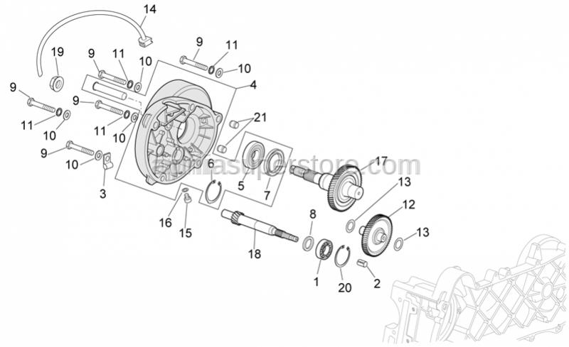 Aprilia - DAX flange nut M16x1,25