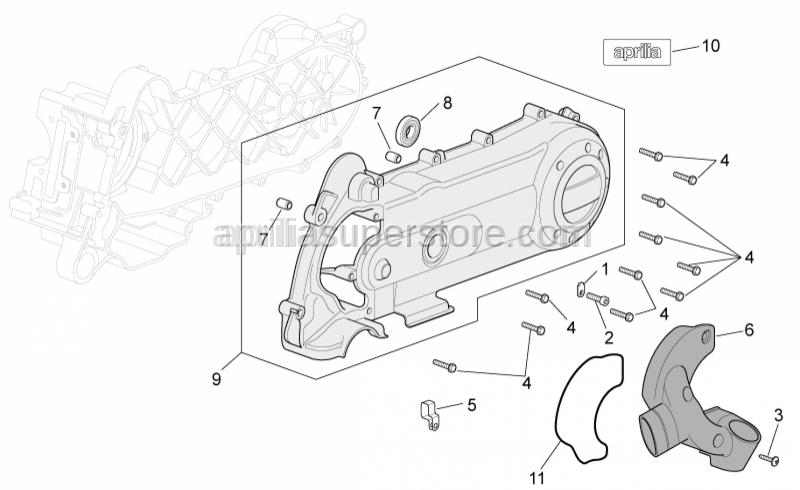 Aprilia - screw M6x25