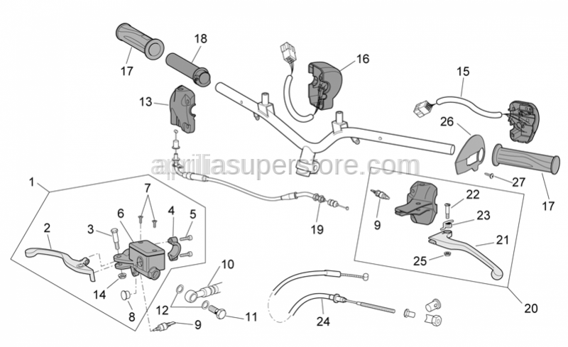 Aprilia - Front brake lever pin