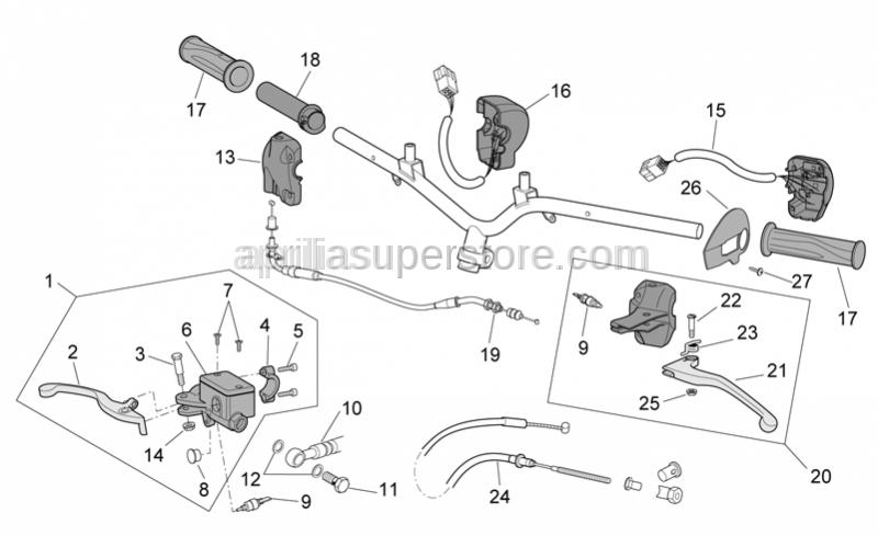 Aprilia - LH polished lever