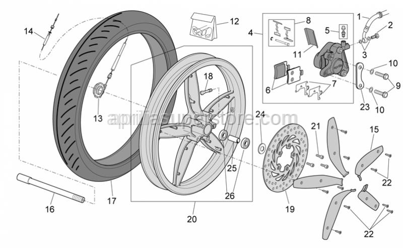 Aprilia - Wheel internal spacer