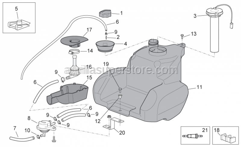 Aprilia - Cable-guide D8