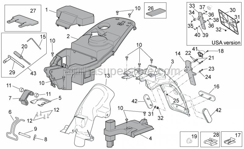Aprilia - Front saddle hinge