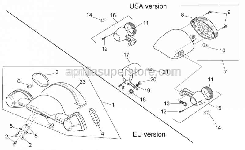 Aprilia - RH.turn indicator lens