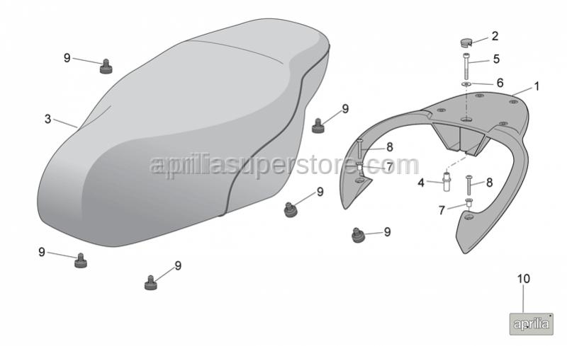 Aprilia - Hex socket screw M6x50