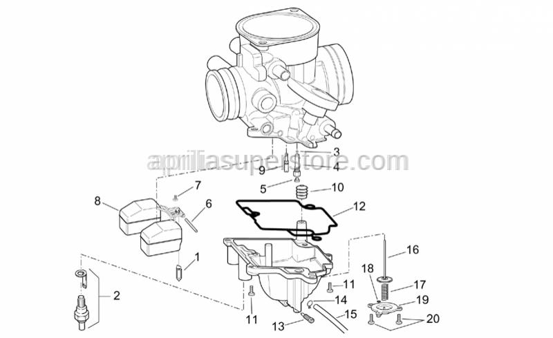 Aprilia - Float chamber unload screw