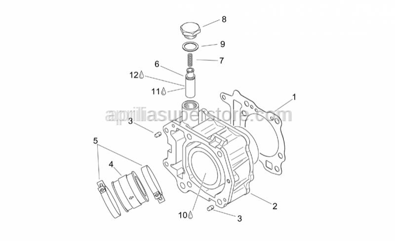 Aprilia - Hose clamp with spacer 45