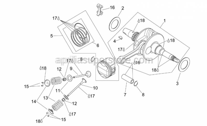 Aprilia - Piston pin 15x10x43