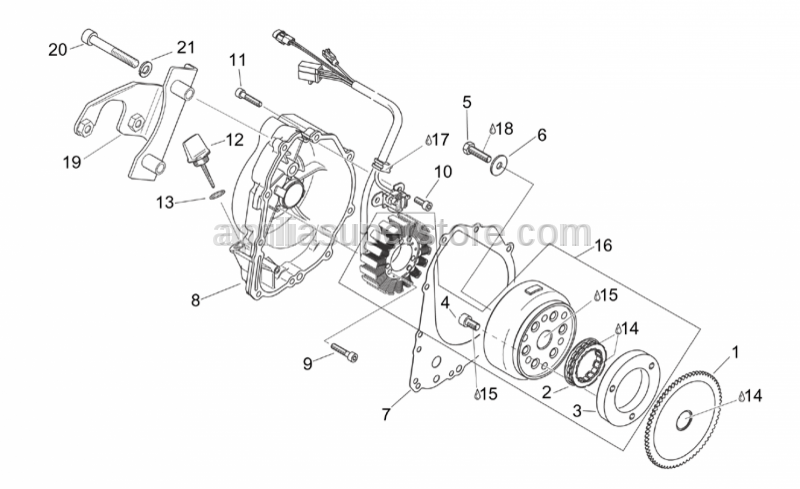 Aprilia - Ignition unit+Sprag clutch
