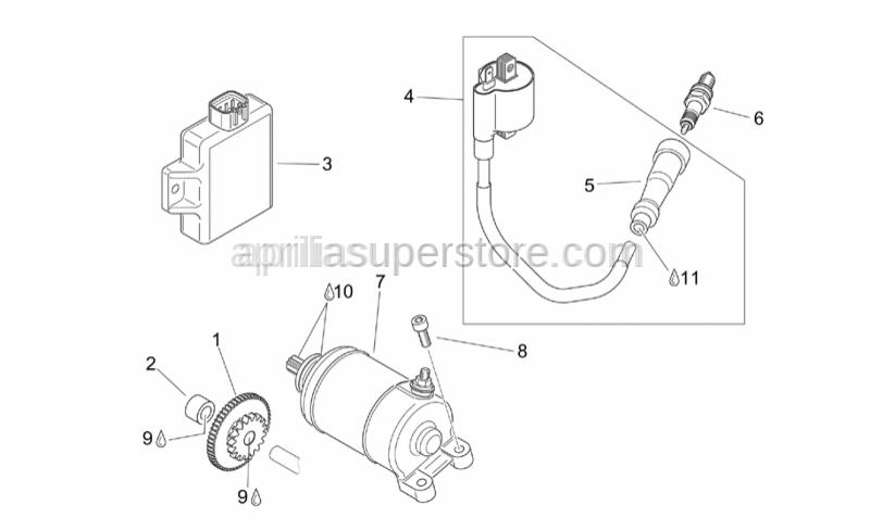 Aprilia - Spark plug CR8F