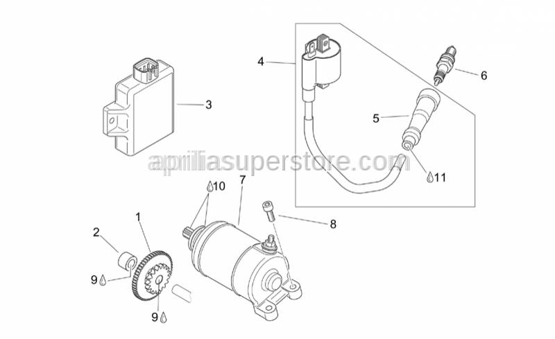 Aprilia - Spark plug CR8EVX