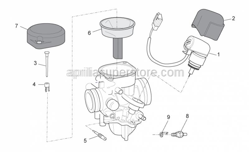 Aprilia - Starter valve cover