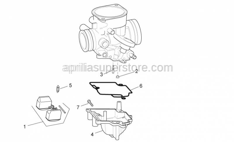 Aprilia - Float chamber gasket