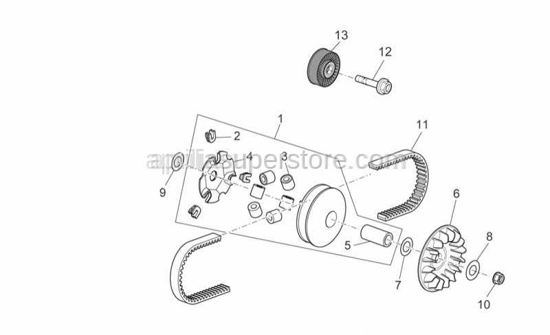 Aprilia - 6 rollers kit