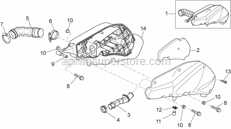 Aprilia - CLAMP, AIR BOX END