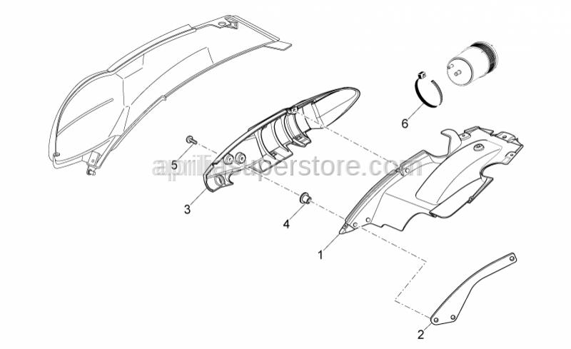 Aprilia - Hose clamp d.78x750
