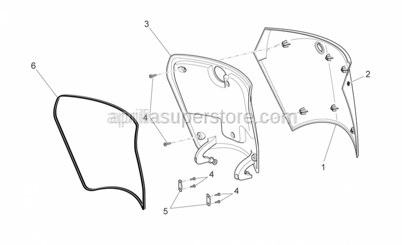 Aprilia - CASE COVER FIXING PLATE