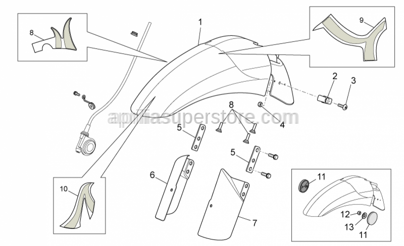 Aprilia - CLAMP, BRAKE  HOSE