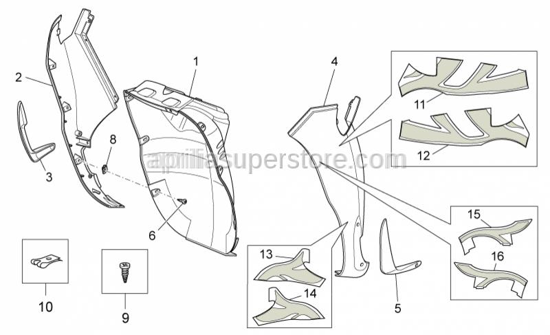 Aprilia - INOX SELF TAPPING SCREW 2X19