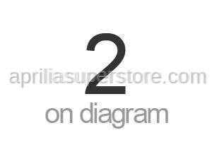 Aprilia - LH Half-rear fairing, cyan