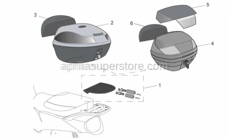 Aprilia - Topbxcover, BlueCity-35L used w CM220401