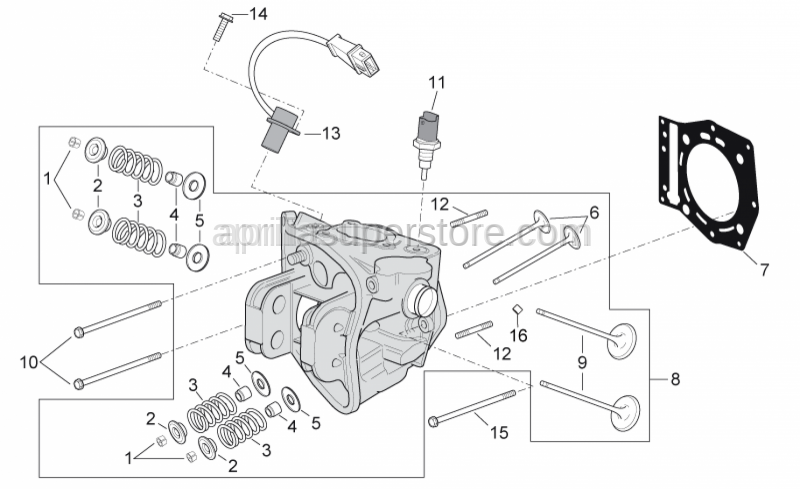 Aprilia - Screw w/ flange M6x85