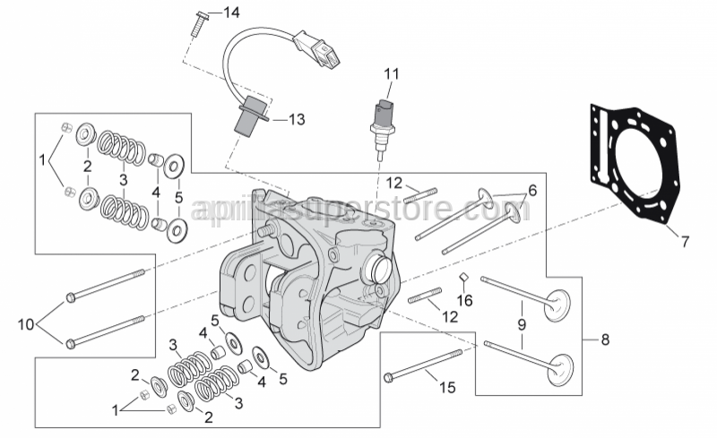 Aprilia - Screw w/ flange M6x90