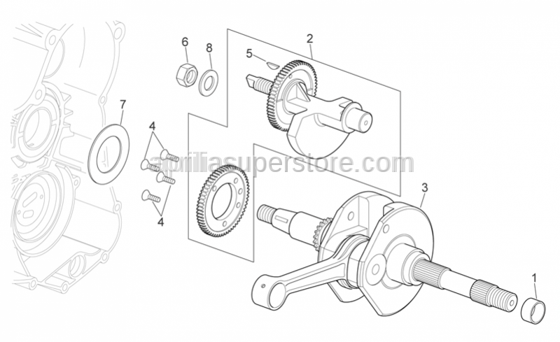 Aprilia - CRANKSHAFT, ASSEMBLY