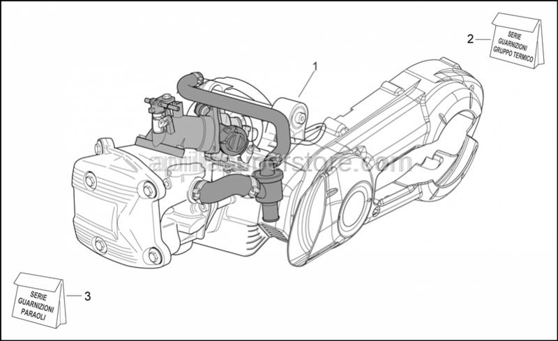 Aprilia - (D) Engine 500 4T/4V E3