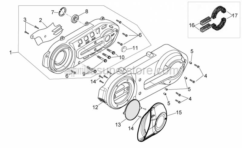 Aprilia - filter for transmission cover