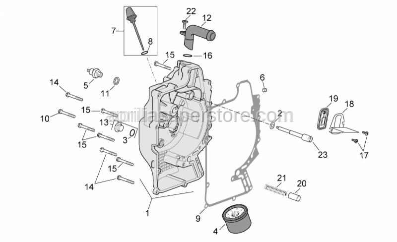 Aprilia - oil pressure valve release spring