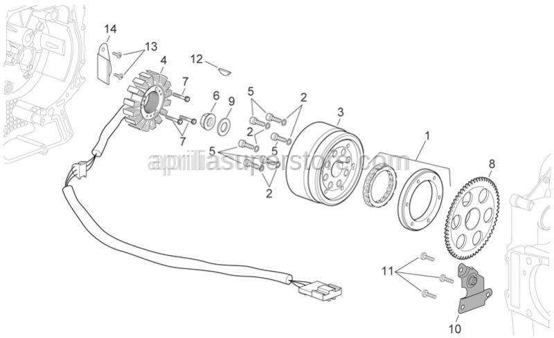 Aprilia - screw M6x30