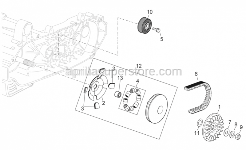 Aprilia - ROLLER CONTAINER ASSEMBLY