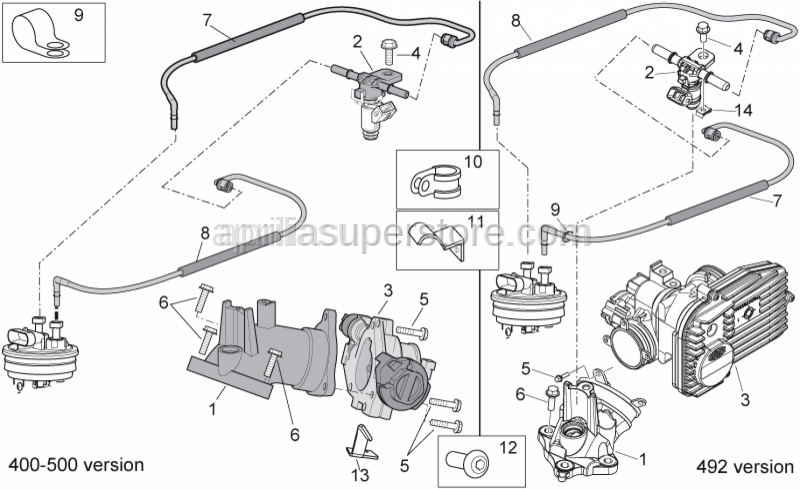 Aprilia - Pipe fixing plate