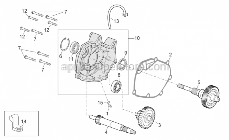 Aprilia - Radial bearing 30x55x13