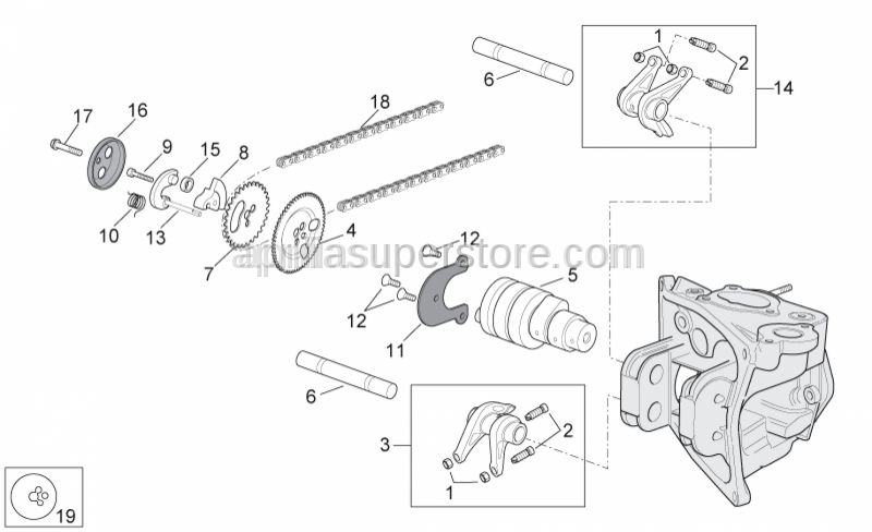 Aprilia - DECOMPRESSION COUNTERWEIGHT X9