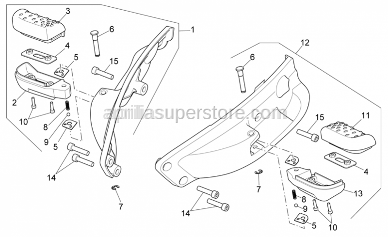 Aprilia - Hex socket screw M8x35