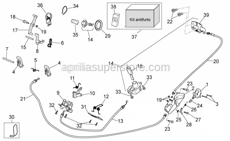 Aprilia - GLOVE BOX CATCH X9