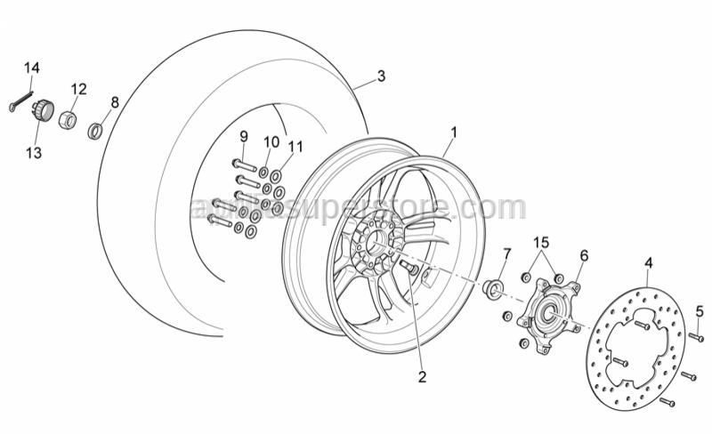 Aprilia - Rear tyre 150/70-14(MICHELIN)