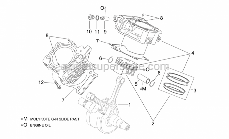 Aprilia - Piston ring set