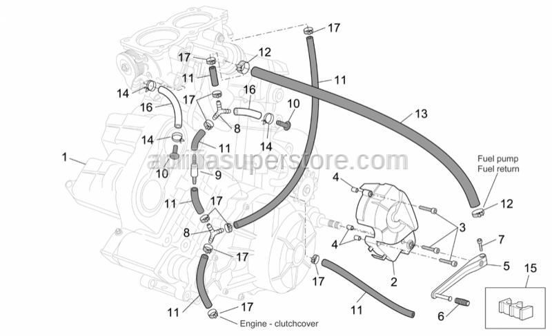 Aprilia - Hose clip D16,5X6,6
