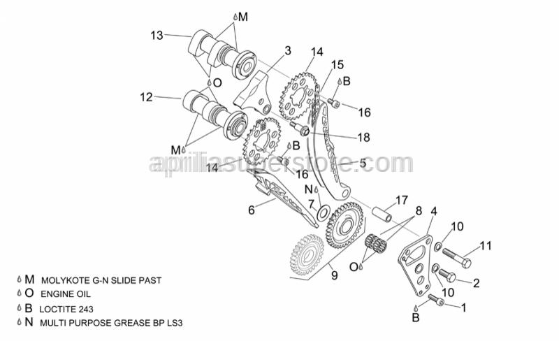 Aprilia - Hex socket screw M6x11,5