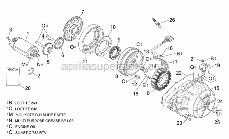 Aprilia - Spark plug DCPR9E