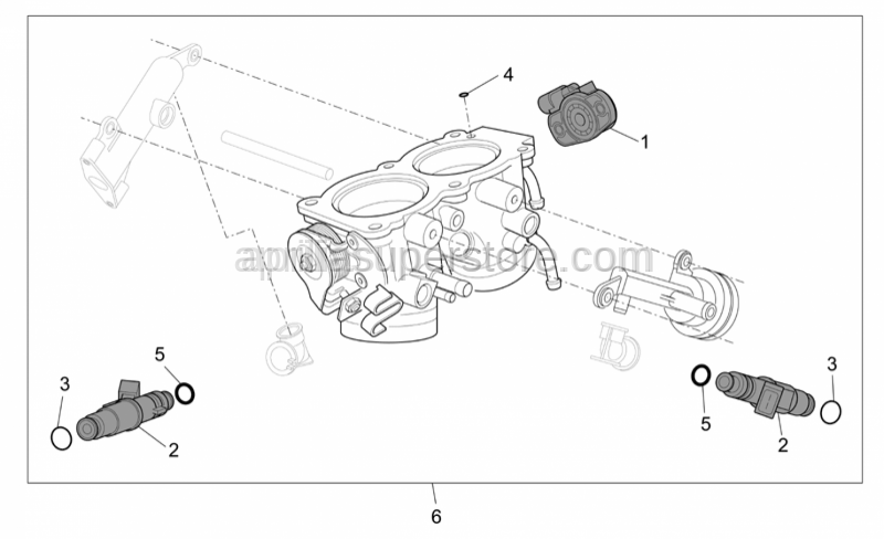 Aprilia - Throttle body cpl.